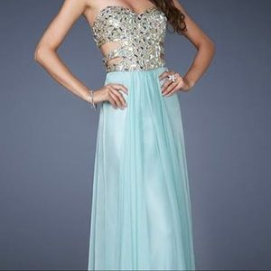 Sea Foam Green Prom Dress